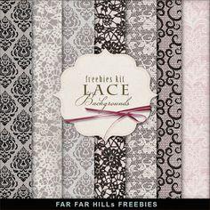 Scrapbooking TammyTags -- TT - Designer - Far Far Hill,  TT - Item - Paper, TT - Texture - Lace or Crochet