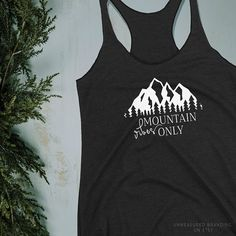 Mountain Vibes Only|Womens Tank Top|Mountain Shirt|Mountain T Shirt|Womens T Shirt|Gifts for Women|Colorado T Shirt|Colorado Gifts| Fashion