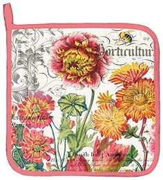 Michel Design Works Cotton Potholder, Blooms and Bees * Details can be found by clicking on the image.