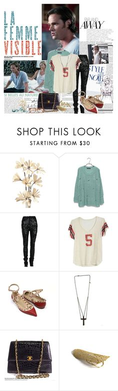 """""""Supernatural: Jessica."""" by sub-marine-mission ❤ liked on Polyvore featuring Proenza Schouler, Valentino, Alex and Chloe, Chanel, LARA MELCHIOR, Wood Wood, supernatural, chanel bag, background and proenza pants"""