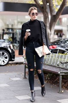 Next Post Previous Post Fall Street Style Outfits to Inspire Herbst Street Style / Fashion Week Street Style Street Style Outfits, Looks Street Style, Autumn Street Style, Looks Style, Casual Outfits, Fall Outfits, Rock Chic Outfits, Denim Outfits, Unique Outfits