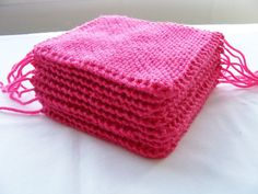 10 Knitted squares - knitting project supplies for quilt, blacnket, bag, cushion or knee rug by SparkleandComfort, $8.50