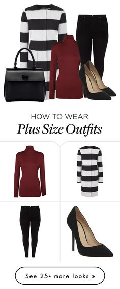 """Plus Size Stripes"" by kurvy-katie on Polyvore featuring WearAll, Studio 8, Office, stripes, plussize, plussizefashion and plus size clothing"