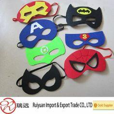 maskers superhelden !! maken uit vilt!!