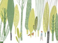 살랑살랑 바람을 느끼며 숲을 느끼며 산책하기...