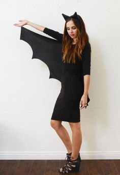 fasching-kostume-damen-anleitung-bat-woman-schwarz-einfach-selber-machen