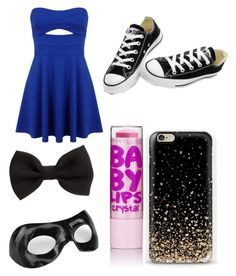 """Untitled #24"" by sbfreshwater ❤ liked on Polyvore featuring Miss Selfridge, H&M, Converse and Masquerade"