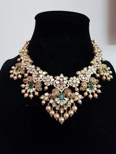 Sri balaji gems and jewellery- Sri balaji gems and jewellery - Gold Jewellery Design, Gold Jewelry, Gold Necklaces, Beaded Jewelry, Jewelry Accessories, Stylish Jewelry, Fashion Jewelry, Bridal Jewelry Sets, Bridal Jewellery