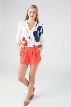 Katie blouse in Organic Flower print - Annie Griffin Spring '14