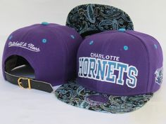 NBA Mitchell And Ness Charlotte Hornets Snapback Hats 215 8324! Only $8.90USD