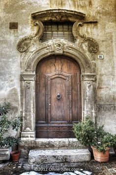 Ornate Doorway  Abruzzo , Italy
