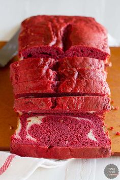 Red Velvet Quick Bread with Cream Cheese Filling {Giveaway} - Taste and Tell