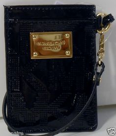 $45.00 Michael Kors Black Metro Pass Case Genuine Leather Id Badge Holder + FREE GIFT