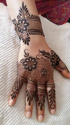 Browse the latest Mehndi Designs Ideas and images for brides online on HappyShappy! We have huge collection of Mehandi Designs for hands and legs, find and save your favorite Mehendi Design images. Henna Hand Designs, Eid Mehndi Designs, Mehndi Designs Finger, Modern Mehndi Designs, Mehndi Design Pictures, Wedding Mehndi Designs, Mehndi Designs For Fingers, Mehndi Patterns, Beautiful Henna Designs