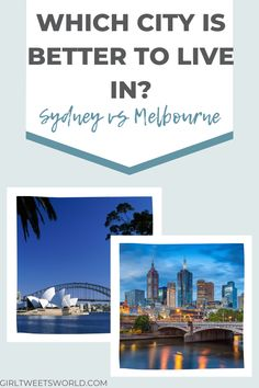 Some personal thoughts on what it's like to live in Sydney and Melbourne, Australia as a British expat. Two of the world's best places to live compared after living in Australia for 4 years. The pros and cons of living in Sydney and Melbourne, including a comparison of costs, food and apartments.  #australialiving #livinginsydney #livinginmelbourne #movingtoaustralia Moving To Australia, Australia Living, Best Places To Live, Places To Visit, Australian Road Trip, Moving Overseas, Great Barrier Reef, Melbourne Australia, What Is Like