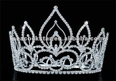 """Wholesale Vintage Style Pageant Beauty Contest Tall 4.5"""" Tiara Full Circle Round Crystal Crown CT1693 $35.00"""