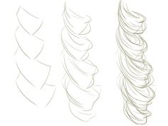 how to draw curly hair - Google Search