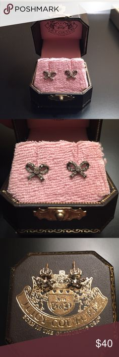🆕Juicy Couture Authentic Bow Earrings Never worn juicy couture silver bow studs in box Juicy Couture Jewelry Earrings