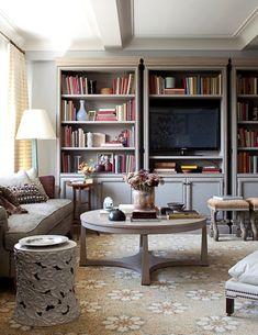 bookshelves around the tv | living room | pinterest | toys, front