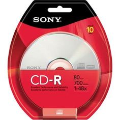 Sony 10CDQ80RB CD-R Recordable Storage, 10 Discs by Sony. Save 7 Off!. $6.99. Sony 10CDQ80RB CD Recordable Media - CD-R - 48x - 700 MB - 10 Pack Blister Pack 10CDQ80RB CD Media