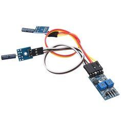 3.3v - 5v 2 canal de disparo de alarma módulo de sensor de vibración automática para Arduino