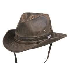 Conner Hats Outback Hats Brown   Small Bounty Hunter Water Resistant Cotton  Hat. Has pocket db2a7438ac6b