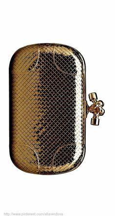 Bottega Veneta 18K gold clutch