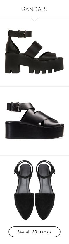 """""""SANDALS"""" by lion-smile ❤ liked on Polyvore featuring shoes, sandals, clothes - shoes, heels, black, black high heel sandals, black heel sandals, platform sandals, black shoes and black platform shoes"""
