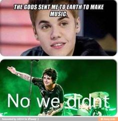 Now all we need to do is replace the pic of green day with  one direction< oh my God that comment was pure disgusting