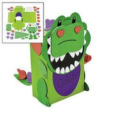 Alligator Valentine Card Box Craft Kit | Bren U0026 Kallen | Pinterest |  Crafts, Valentines And Alligators