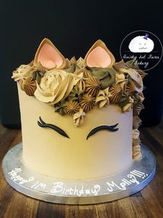 Cute, simple horse cake by Quirky but Fierce Bakery. #horse #cake #simple #cute #animalcake #equestrian #tan #brown #cakedecorating #cakestagram #foodart