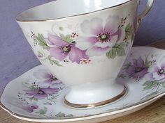 Vintage Royal Standard violet purple flower tea by ShoponSherman, $39.00