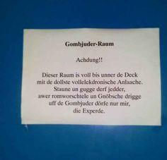 Achdung im Gombjuder-Raum: