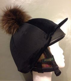 b4498c83658 Fox fur pompom hat cover ❤ ❤ (fur recycled from vintage clothing)