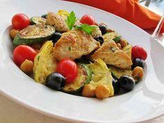 Rock the Mediterranean Diet - Zucchini and Artichoke Salad
