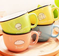 Cute Food Mugs featuring all kinds of foods you love! https://feelmyvibe.com/products/creative-cute-food-drink-mugs #food #mugs #coffee #tea