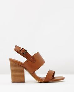 SPURR Elsa Strappy Stack Heels Sandals