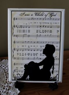Music Sillouettes - I love these. This web site has so many gift ideas