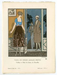 """Women 1915-1920, Plate 033.  Fashion plates, 1700-1955. The Costume Institute Fashion Plates. The Metropolitan Museum of Art, New York. Gift of Woodman Thompson (b17509853) 