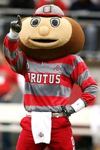 Brutus the Buckeye-yup I'm a nut! Buckeyes Football, Ohio State Football, Ohio State University, Ohio State Buckeyes, Ohio State Tattoos, Cfp National Championship, Ohio Stadium, The Buckeye State, Cleveland Ohio