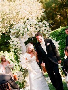 baby's breath wedding arch -