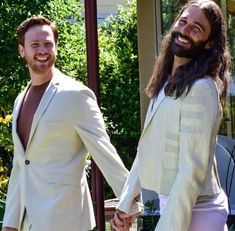 Jonathan Van Ness & Mark Peacock 2020 Married Men, I Got Married, Beautiful Couple, Most Beautiful, Instagram Handle, Instagram Posts, Zoom Call, Lgbt Community, Lifestyle Trends