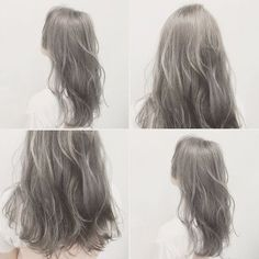 56 Concepts Hair Coloration Cool Fashion - World of Hair Colors Japanese Hair Color, Korean Hair Color, Grey Hair Korean, Hair Korean Style, Wedding Hair Colors, Hair Wedding, Ash Hair, Ash Green Hair, Hair Arrange