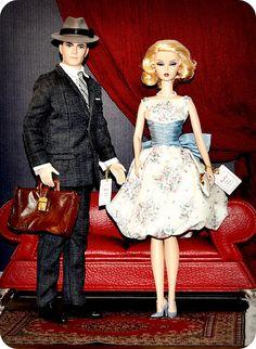 Don & Betty Draper Barbie Dolls!  I want these!