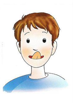 fichas de praxias buco-faciales para trabajar con niños