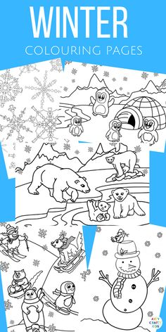 Arty crafty kids a playful collection of winter colouring pa