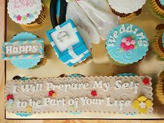 Wedding Cupcake Set Wedding Cupcakes, Sweet Cakes, Fondant, Birthday Cake, Desserts, Food, Tailgate Desserts, Fondant Icing, Birthday Cakes
