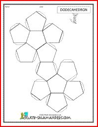 Dodecahedron net, printable net for dodecahedron