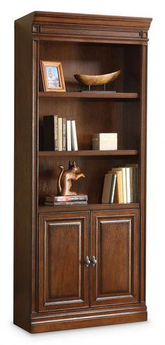 Home Office Furniture   Johanne Bookcase W/ Doors   Chocolate Oak