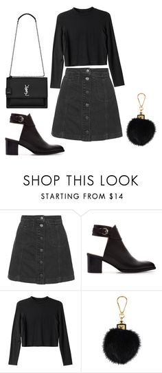 """ju"" by julinutella ❤ liked on Polyvore featuring Topshop, Zara, Monki, Louis Vuitton and Yves Saint Laurent"